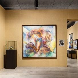 Veduta della mostra Post Zang Tumb Tuuum. Art Life Politics: Italia 1918-1943. Foto: Delfino Sisto Legnani e Marco Cappelletti, 18 febbraio - 25 giugno 2018 Fondazione Prada, Milano. Courtesy Fondazione Prada