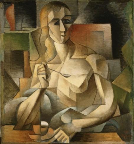Jean Metzinger, L'ora del tè (Donna col cucchiaino), 1911, olio su cartone, 75.9x70.2 cm, Philadelphia Museum of Art, Collezione Louise e Walter Arensberg, 1950
