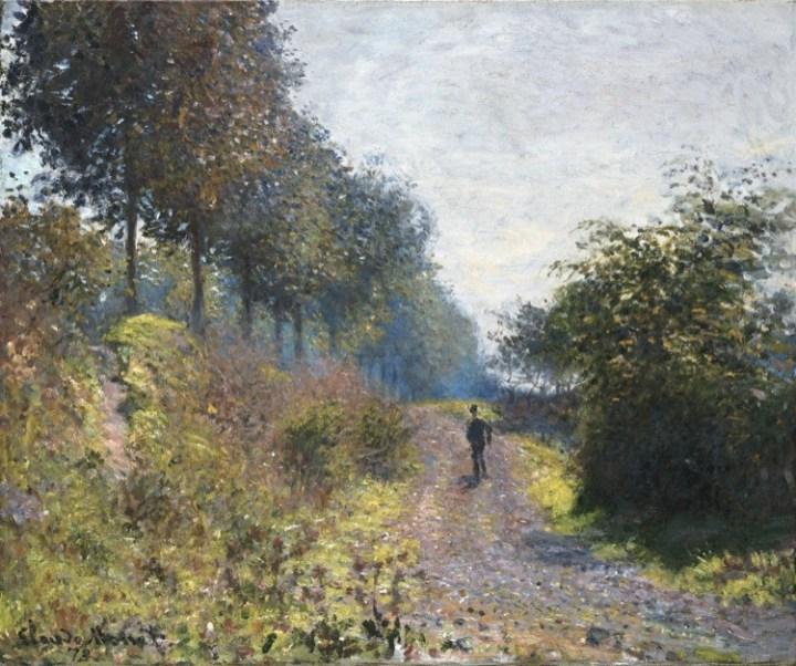 Claude Monet, Il sentiero riparato, 1873, olio su tela, 54.1x65.7 cm, Philadelphia Museum of Art, Donazione di Mr. and Mrs. Hughs Norment in onore di William H. Donner, 1972