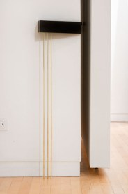 Anders Ruhwald, Social Piece of Furniture #8, 2008, ceramic and brass, 72x13x7cm