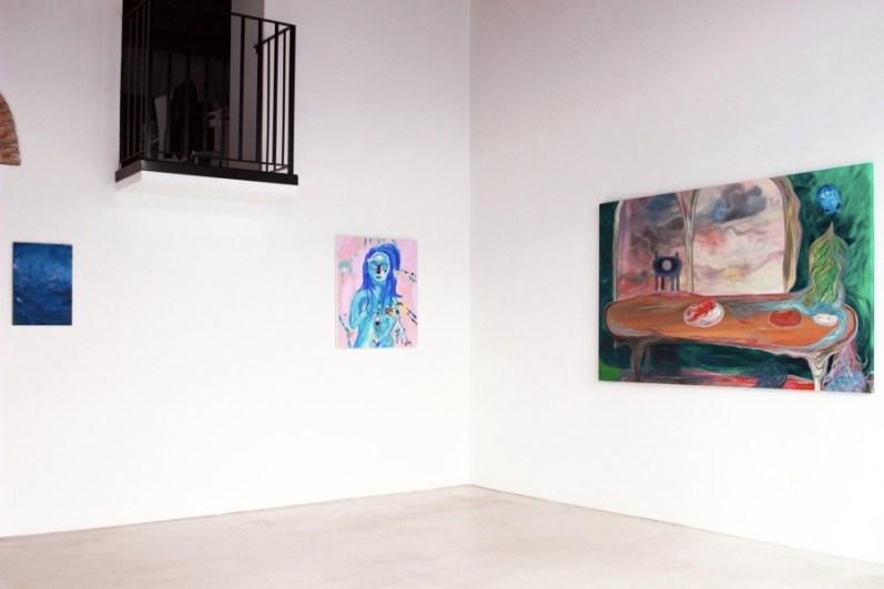 Down Deep. Immagini del profondo nella pittura contemporanea, veduta della mostra (Bruno Marrapodi e Silvia Argiolas), Villa Contemporanea, Monza