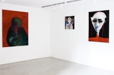 Down Deep. Immagini del profondo nella pittura contemporanea, veduta della mostra (Lorenzo Aceto, Silvia Argiolas e Liana Ghukasyan), Villa Contemporanea, Monza