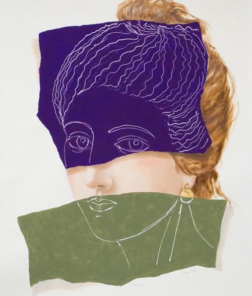 Clara Brasca, ALCESTI, 2018, tecnica mista su carta, cm 250x140