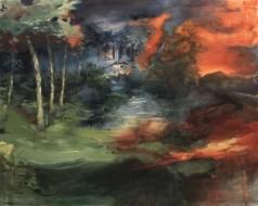 Alice Faloretti, Facciamo una passeggiata, 2018, olio su tela, cm 120x150