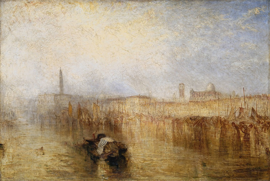 © J. M. W. Turner, Venice Quay, Ducal Palace, exhibited 1844, oil paint on canvas, Tate: Accepted by the nation as part of the Turner Bequest 1856