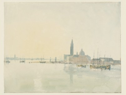 © J. M. W. Turner, Venice: San Giorgio Maggiore - Early Morning, 1819, watercolour on paper, Tate: Accepted by the nation as part of the Turner Bequest 1856