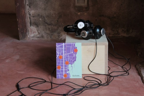 "Giorgio Vasta, City Scripts, 2018, storytelling, creative writing workshops and collaborative podcasts available on the Manifesta 12 app. and at Teatro Garibaldi, project ""City on Stage"", Teatro Garibaldi, Palermo Photo: Wolfgang Träger Photo Courtesy: Manifesta 12 Palermo and the artist"
