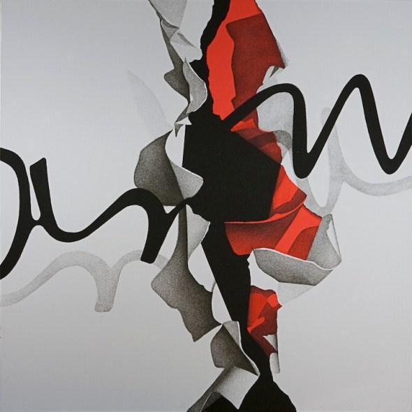 Agostino Ferrari, Interno-Esterno, 2010, acrilico e sabbia su tela, 150x150 cm