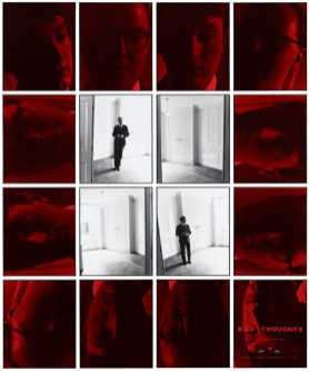 Gilbert & George, Bad Thoughts No. 7, 1975, 12 hand-tinted gelatin silver prints and 4 untitled gelatin silver prints, 251.5x208.3x10 cm Pinault Collection © Gilbert & George