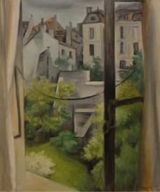 Théodore Strawinsky, Dalla mia finestra, Genève, 1944, olio su cartone, 73x60 cm, Collezionista privato