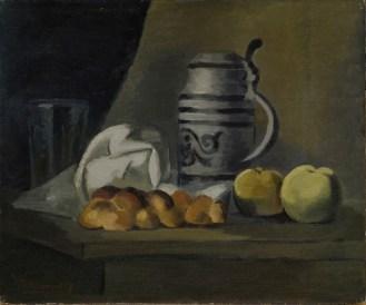 Théodore Strawinsky, La treccia II, 1943, olio su cartone, 39x46 cm, Collezione Poscio