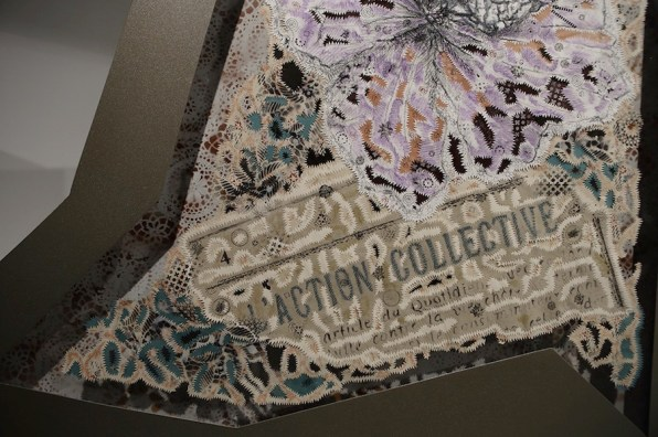 Gabriella Ciancimino, Séparée Liberté, 2018 (detail), mixed media on paper, iron, aluminum, plexy, tot. sizes cm 440x180x12 (In Liberty We Trust, view of the show, 2018, Palazzo Ziino, Palermo) Photo by Fausto Brigantino - Azoto projects & communication