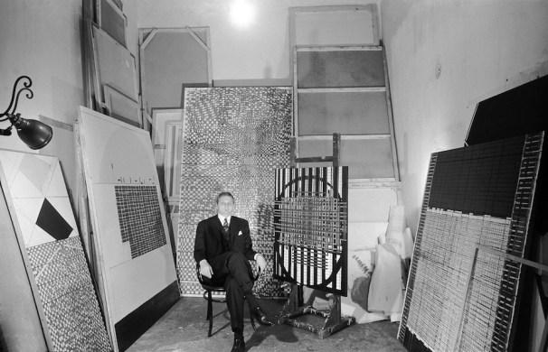 Paolo Masi in studio, 1965