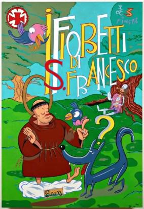 Massimo Giacon, I Fioretti di San Francesco, 1997, olio su tavola, 185x126 cm, Foto Fabio Fantini
