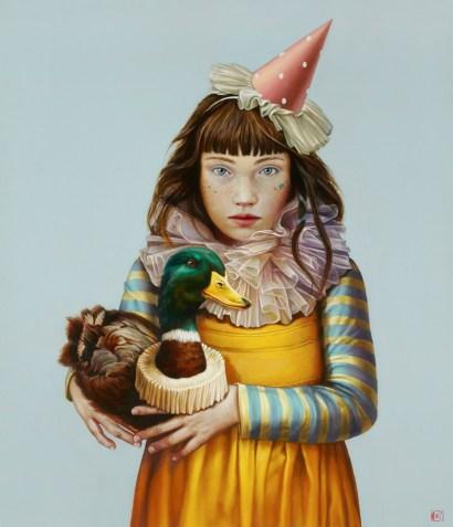 Claudia Giraudo, Viaggio iniziatico, 2018, olio su tela di lino, 70 x 60 cm