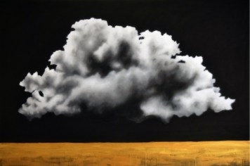 Ernesto Morales, Clouds I, 2018, oil on canvas, cm 100x150 Courtesy l'artista e Area35 Art Gallery, Milano