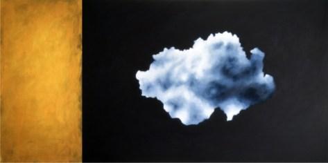 Ernesto Morales, Clouds VI, 2018, oil on canvas, cm 100x200 Courtesy l'artista e Area35 Art Gallery, Milano