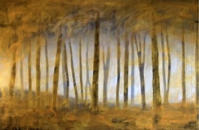 Ernesto Morales, Forest I, 2018, oil on canvas, cm 100x150 Courtesy l'artista e Area35 Art Gallery, Milano