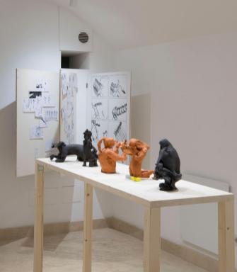 Ana Botezatu, Unnamed 2018. In the making, veduta dell'installazione, courtesy Galleria Richter Fine Art