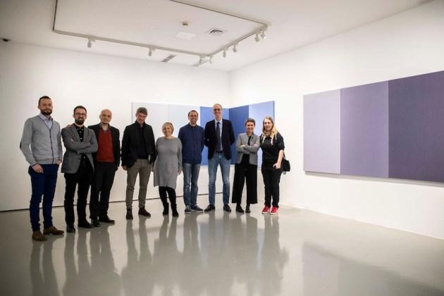 Ex Post, Galleria Civica di Trento, foto di gruppo dei protagonisti. Foto Mart, Jacopo Salvi