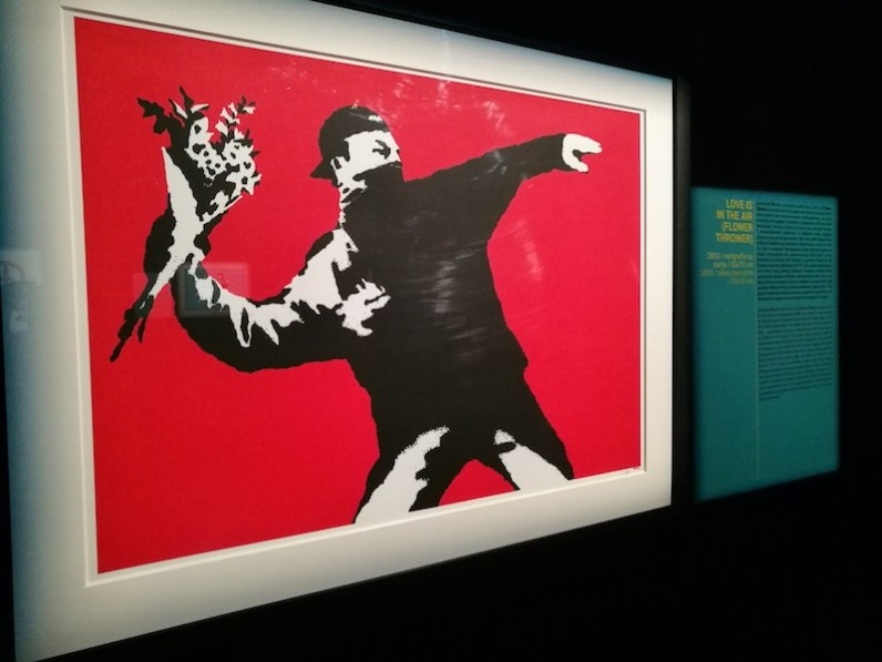 Banksy. This is not a photo opportunity, veduta della mostra, Palazzo Medici Riccardi, Firenze