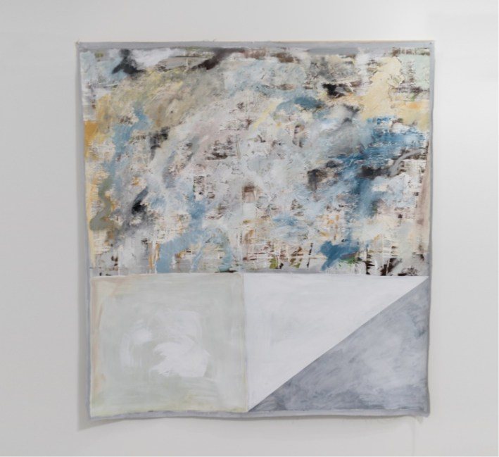 Manuel Gardina, Grey Arras, 2018, tecnica mista su tela non intelata, 175x167 cm