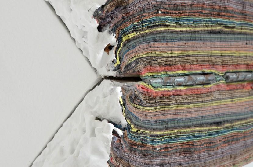Diego Soldà, NoPlace, 2017 (particolare), tempera a strati su legno, 24x46x25 cm