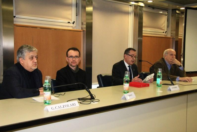 Gianpiero Calzolari, Simone Menegoi, Mauro Stefanini, Pier Giovanni Castagnoli, Premio ANGAMC 2019, Arte Fiera, Bologna