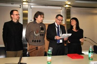 Simone Menegoi, Francesco Ribuffo, Mauro Stefanini, Elena Ribuffo, Premio ANGAMC 2019, Arte Fiera, Bologna