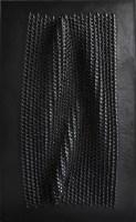 Matteo Gironi, Emersione, 2018, feltro, cera, pigmento, 126x78 cm Courtesy l'artista e E3 Arte Contemporanea, Brescia