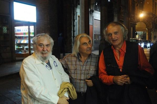 Pier Paolo Calzolari, Pasquale Ribuffo e Gilberto Zorio, 2014, foto F. Ribuffo