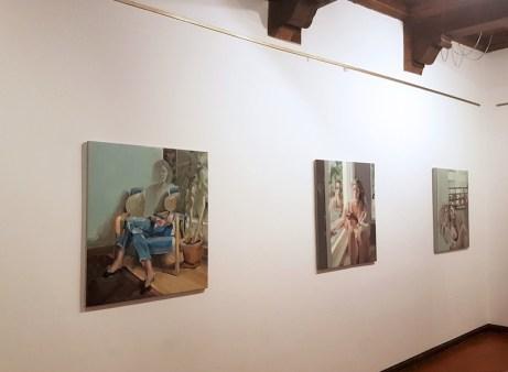 Evita Andújar. Memorie liquide, veduta della mostra, Casa del Rigoletto, Mantova