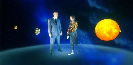 Tony Oursler, Spacemen R my Friended, 2016, still da video