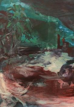 Alice Faloretti, Stanza esterna, 2019, olio su tela, cm 100x70