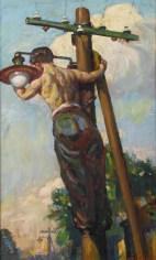 Vlastimil Košvanec, Sia la luce, anni '50, olio su tavola