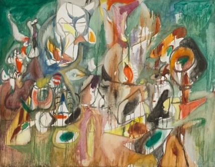 Arshile Gorky, Year the Milkweed, 1944, olio su tela, cm 94.2x119.3 National Gallery of Art, Washington, D.C. Ailsa Mellon Bruce Fund © 2018 The Estate of Arshile Gorky / Artists Rights Society (ARS), New York