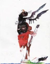Kinki Texas, Rousseaus island, 2016, tecnica mista su carta, cm 41.9x29.3