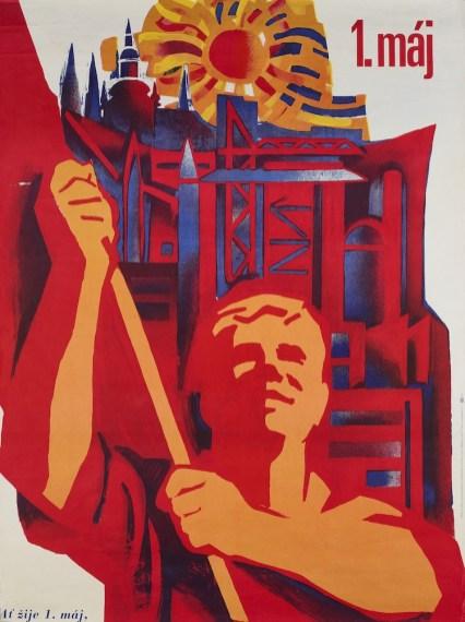 Z. Filip, Alla vitalità del 1° Maggio, 1975, stampa su carta, 88x67 cm, Collezione Fondazione Eleutheria
