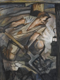 Vilém Wünsche, Senza titolo, 1948, olio e tempera su cartone, 72x60 cm, Collezione Fondazione Eleutheria