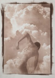 Monica Ragazzini Isa in the Sky #1 Van Dyke print on Hahnemühle paper 38x55cm, 2019 Courtesy Lang Art Gallery (Amsterdam)