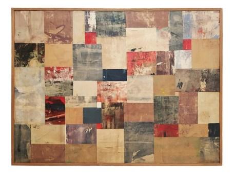 Nuvolo, Senza Titolo, 1957, olio e collage di carte dipinte su tela, 60x80 cm