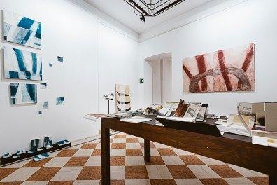 Camilla Rossi. Rizomi, veduta della mostra, Villa Glisenti, Villa Carcina Foto Giovanni Vanoglio