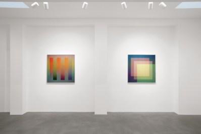 Carlos Cruz-Diez. Colore come evento di spazi, veduta della mostra, Dep Art Gallery, Milano Foto Bruno Bani, Milano Courtesy Dep Art Gallery, Milano
