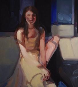 Evita Andújar, Stolen selfie 43 o Dopo Morpheus, 2019, acrilico su tela, cm 90x80
