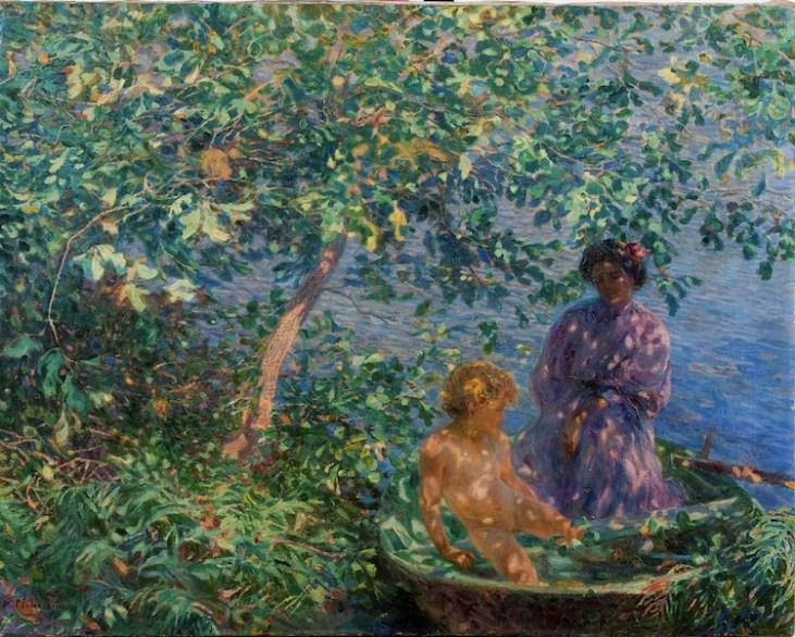 Plinio Nomellini, Baci di sole, 1908, olio su tela,93x119 cm, Galleria d'Arte Moderna Paolo e AdeleGiannoni, Novara
