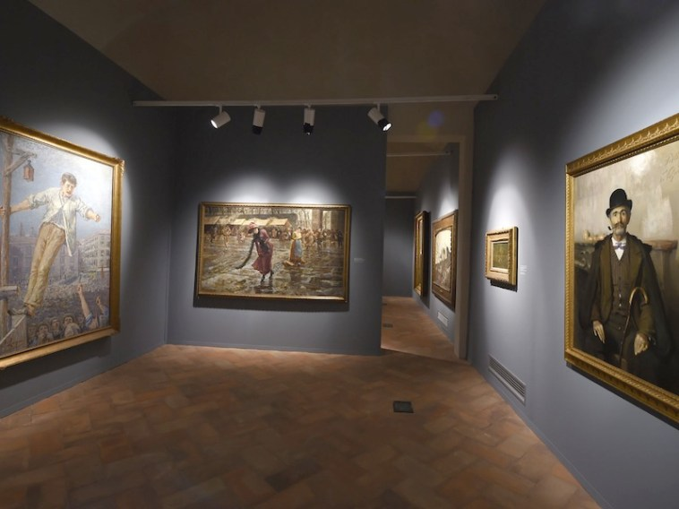 Divisionismo. La rivoluzione della luce, veduta della mostra, Castello Visconteo Sforzesco, Novara Foto Fabio Bozzani
