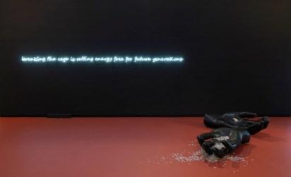 Koen Vanmechelen. The worth of life 1982-2019, veduta della mostra © Enrico Cano, Teatro dell'architettura Mendrisio, interno, Università della Svizzera italiana, Architetto: Mario Botta