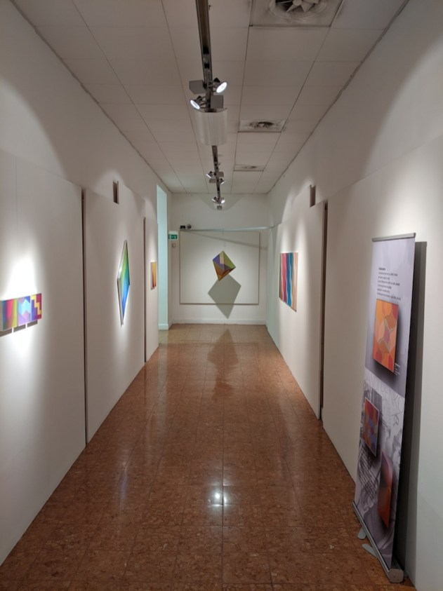 Sandi Renko. Fuori dalle righe 1969-2019. 50 anni di percezione visiva, veduta della mostra, Palazzo Monferrato, Alessandria Foto Nicoletta Zar