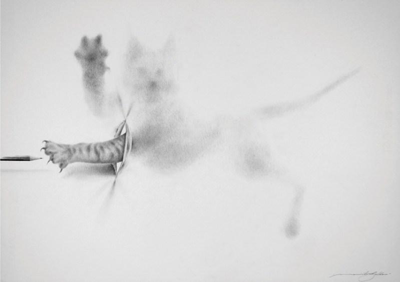 Massimiliano Gallliani, Attraverso 13, 2018, matita su carta Fabriano, cm 50x70