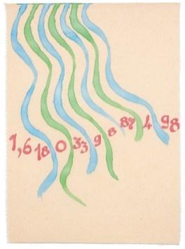Giorgio Griffa, Sezione aurea 498, 2008, acrilici su tela, 82x60 cm Courtesy Galleria Il Milione, Milano